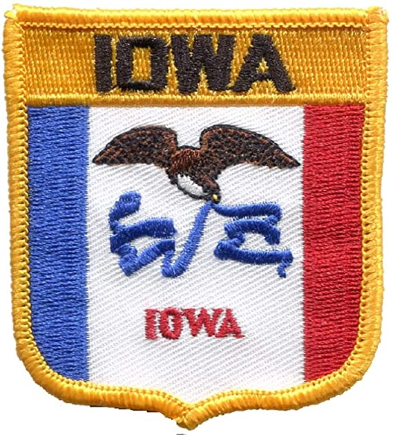 State of IA Iron on Iowa Patch