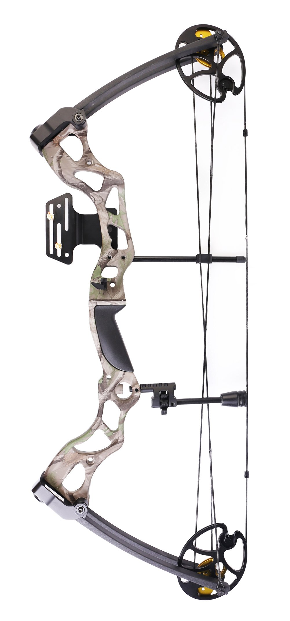 Leader Accessories Compound Bow Hunting Bow 50-70lbs with Max Speed 310fps (Green Camo)