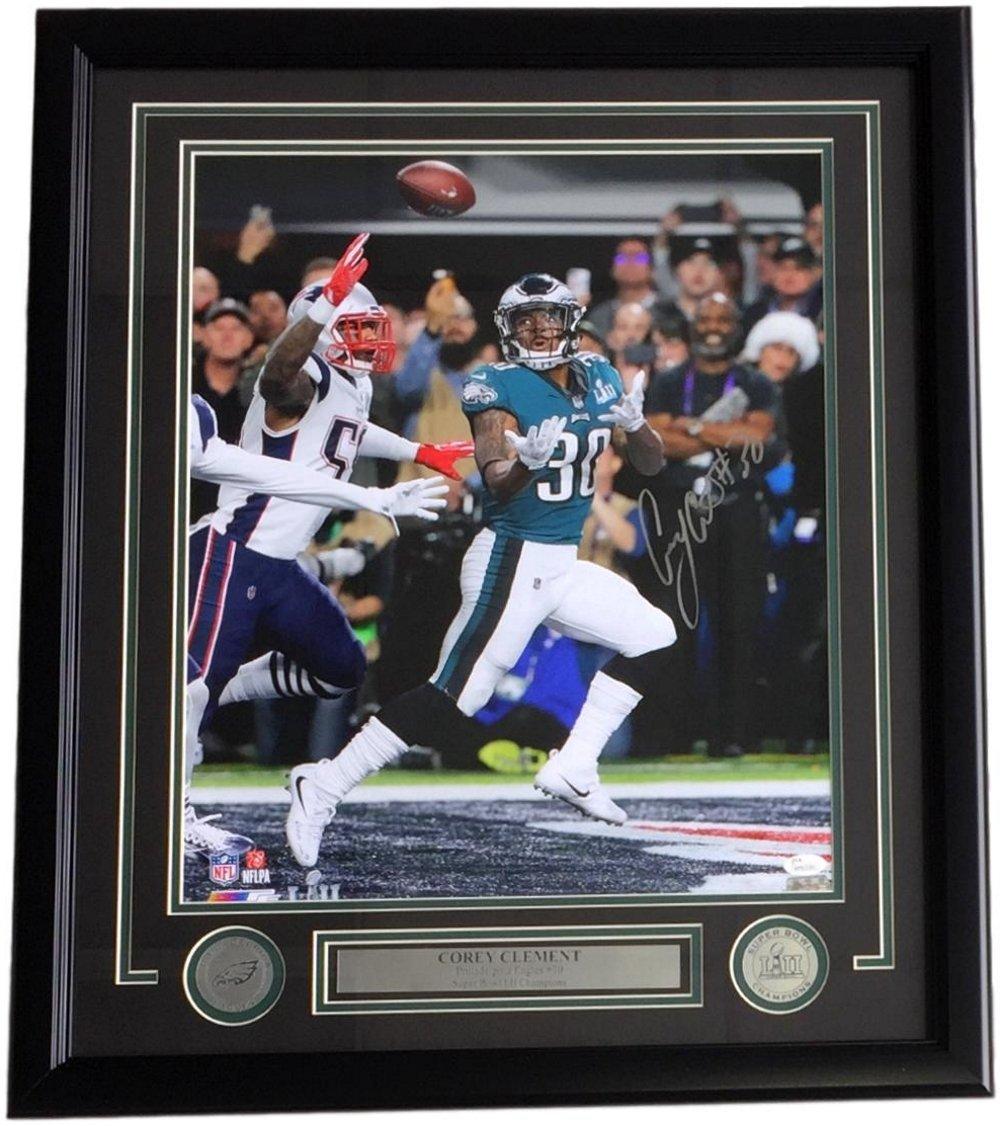 698b688f Amazon.com: Corey Clement Signed Framed 16x20 Eagles Super Bowl 52 ...