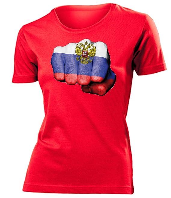 13 Verschiedene Russland Motive auswählbar Fussball Fanshirt Fan Shirt Tshirt Fanartikel Artikel Frauen Damen T-Shirts