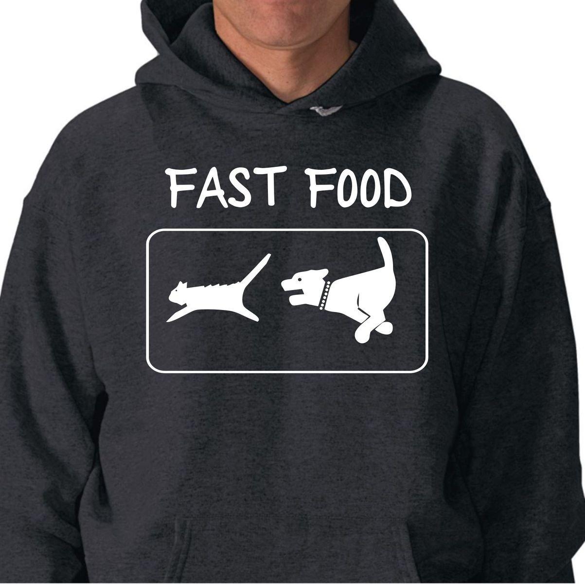 Sudadera con Capucha Fast Food Perro y Gato Gatos Ninja ...