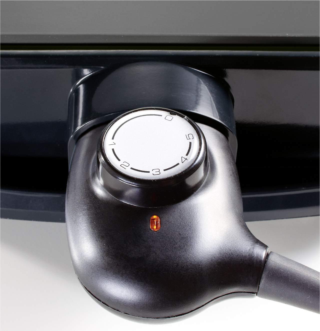 Crustac/és Poissons L/égumes Fonte dAluminium Antiadh/ésive BRANDT 80 /°C /à 200 /°C Plancha Electrique PLA1322S Thermostat 5 Niveaux Cuisson Saine et Savoureuse des Viandes 2200 W