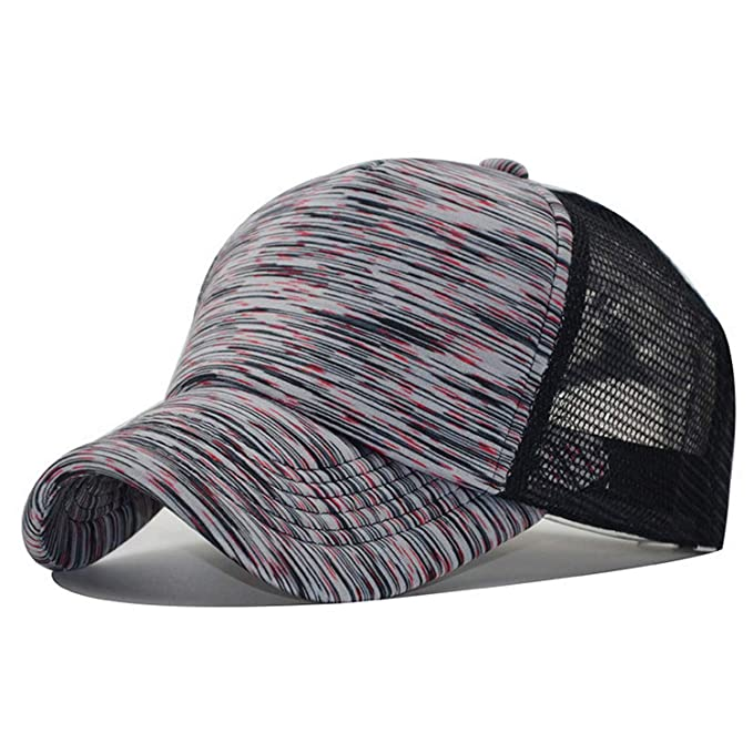 f6aba97e6c547e ANDERDM Fashion Streetwear Summer Breathable Striped Mesh Trucker Cap Women  Men Casquettes Hat Ladies Baseball Caps at Amazon Men's Clothing store: