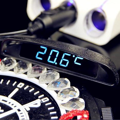 Bei wang Reloj LED reloj Digital para coche coche voltímetro Digital y termómetro electrónico del automóvil