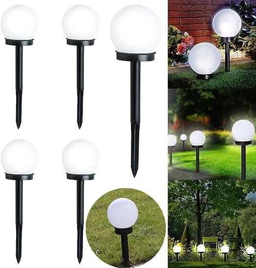HOMYY Lampe Solaire de Jardin en Forme de Boule LED à ...