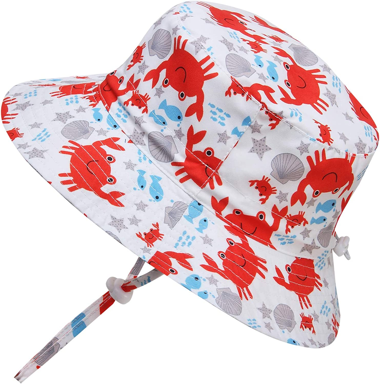 Adorel Sombrero de Pescador de Sol Estampado para Ni/ño