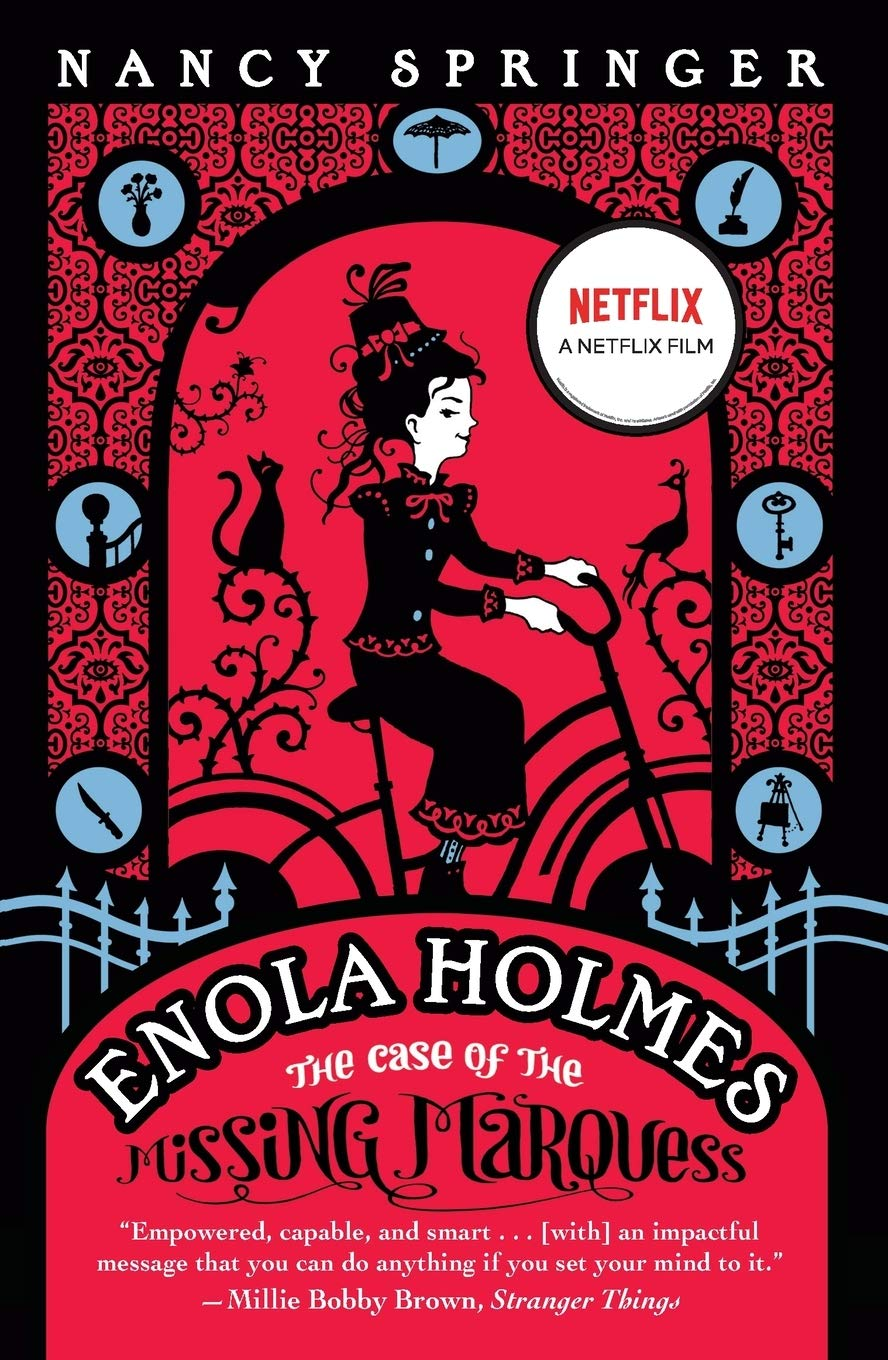 Cover: Nancy Springer The Enola Holmes Mysteries - the case of the missing marquess