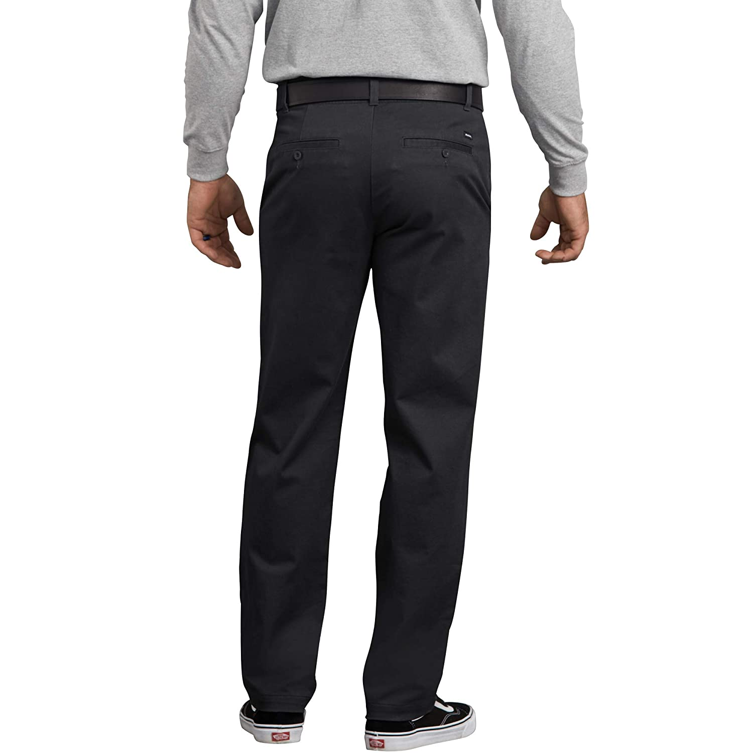 Dickies Mens Flex Active Waist Washed Chino Pant-Slim Taper Fit