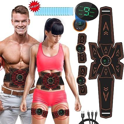 rirgi electroestimulador muscular abdominales masajeador eléctrico