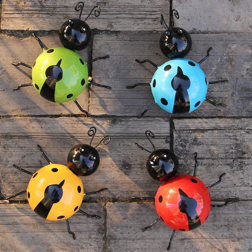 Metal Garden Bee /& Ladybirds Ornament Bee Ladybird Bug Outdoor Wall  Art