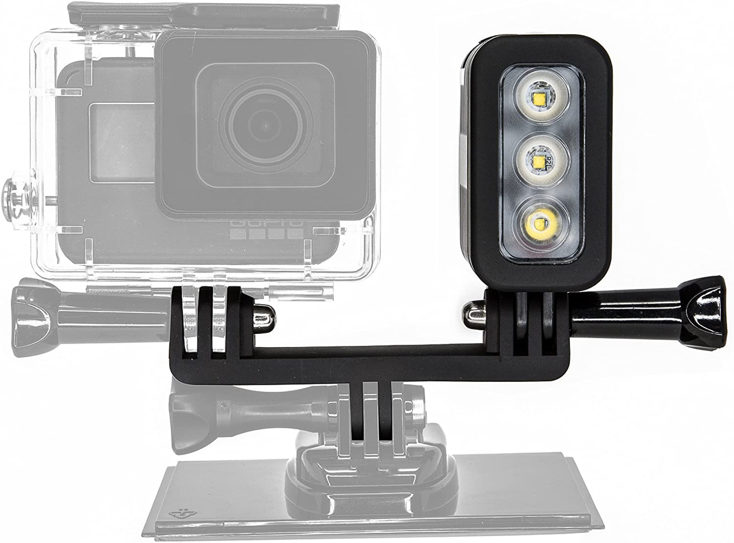 6 and 7 Ultimaxx 40M Underwater LED Light for GoPro Hero 5