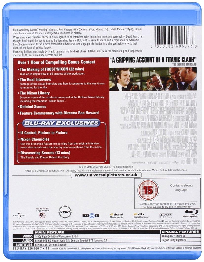 Frost / Nixon Edizione: Regno Unito Reino Unido Blu-ray ...