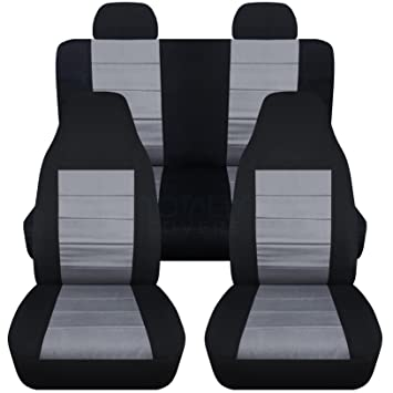 Elegant 2002 2007 Jeep Liberty Seat Covers With Molded/Adjustable Front U0026 Rear  Headrests: