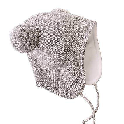 b4019dc85fae Langzhen Bonnet Bébé Fille Garçon Hiver Chaud Doux Chapeau Unisexe  Confortable Bonnet Extensible Tricot Mode Cadeau Noël  Amazon.fr  Vêtements  et ...