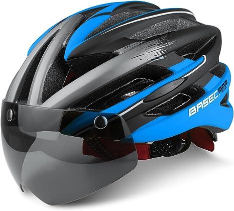 Ciclo cascos, leadfas bicicleta Ciclismo casco con visera gafas ...