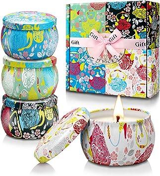 Amazon.com: Velas aromáticas, paquete de 4 velas aromáticas ...