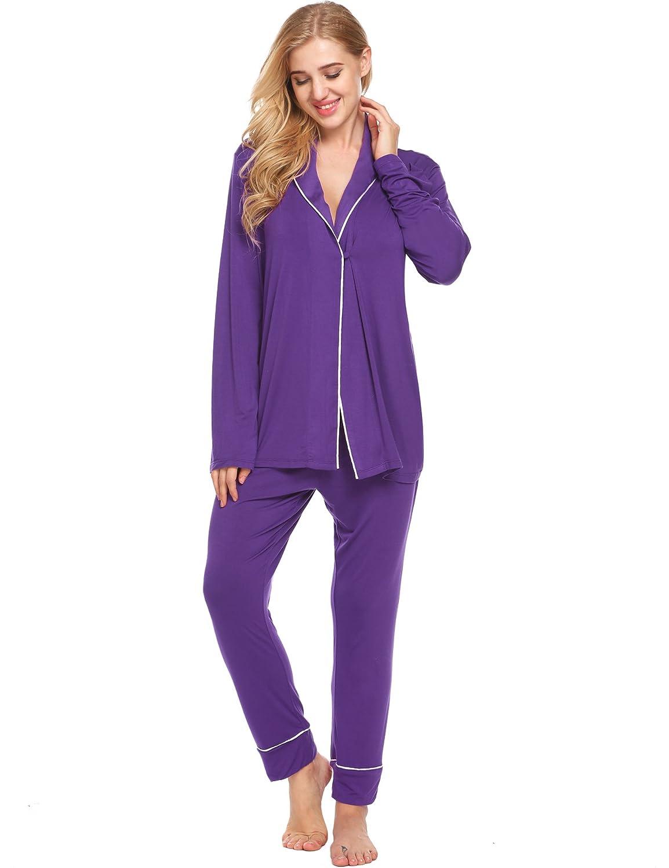 47ef538388 Ekouaer Casual Nightgowns for Women Warm Sleepwear Cozy Pajama Set  Christmas Pajamas at Amazon Women's Clothing store: