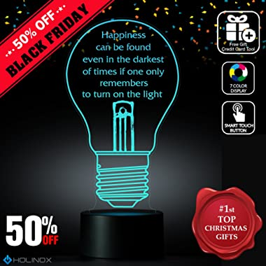 Harry Potter Happiness Quote Lightbulb Lamp, Albus Dumbledore quote, Best Christmas Gift, Decoration lamp, 7 Color Mode, Awesome gifts (MT273)