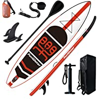 FunWater SUP Inflatable Stand Up Paddle Board 11'x33''x6'' Ultra-Light (18.5lbs) Paddleboard with ISUP Accessories,Fins…