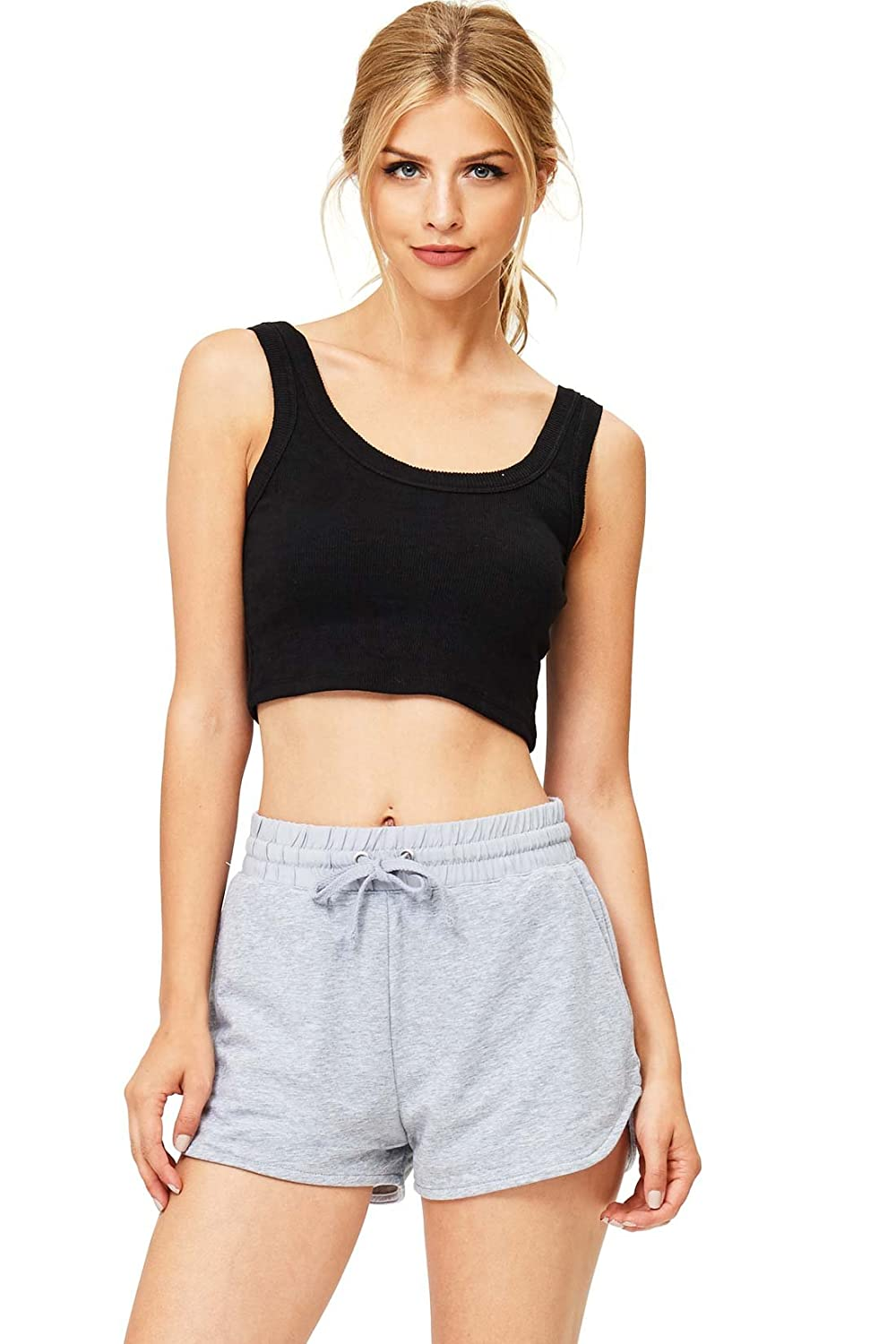 Ambiance Women's Juniors Perfect Jogger Gym Shorts