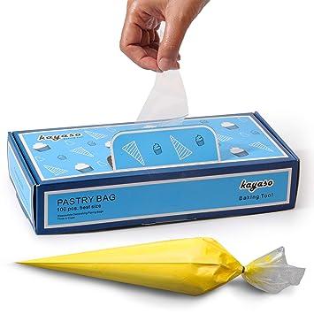 Kayaso 100pcs Bolsas de Pastelería Mangas Pastelera ...