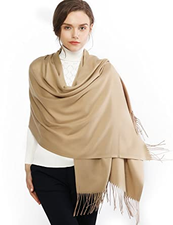 38c69c1d2 Cashmere Winter Warm Scarf Pashmina Shawl Wrap for Women and Men Camel Long  Large Soft Scarves