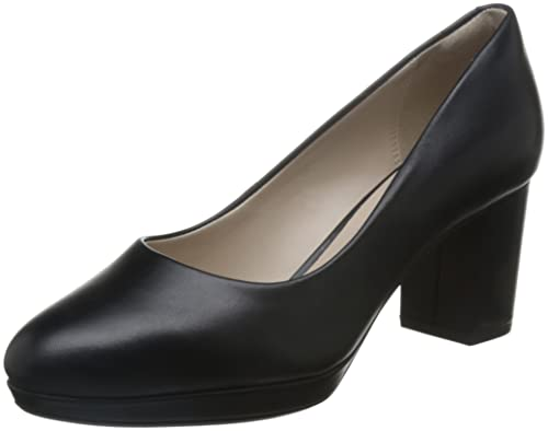 Clarks Women's Kelda Hope Closed-Toe Pumps, Black (Black Leather), ...