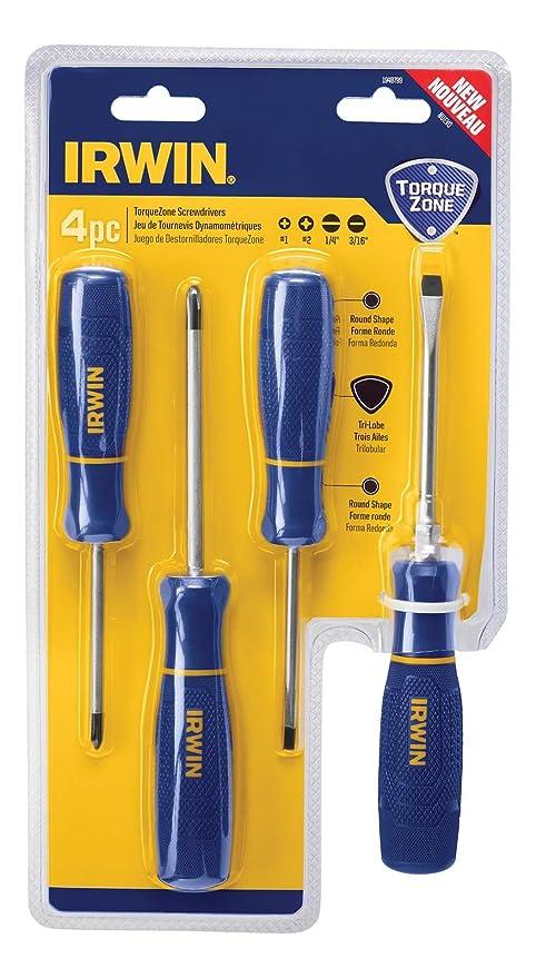 Irwin Tools 1948799 IRWIN TorqueZone Screwdriver Set, 4Piece,