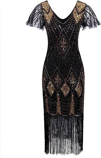 Amazon.com: Vijiv - Vestido de mujer de los años 20, con ...