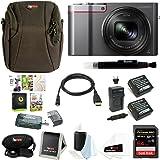 Panasonic Lumix DMC-ZS100 Digital Camera w/Case & 64GB SD Card Bundle (Silver)