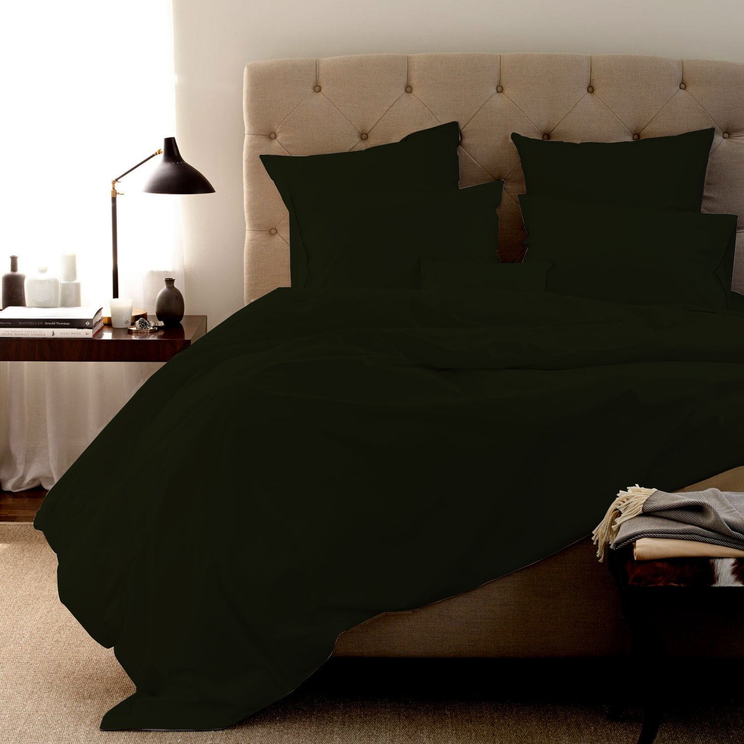 """LINEN SHOPPE 600 Thread Count PIMA Cotton Classic Bed Sheet Super Soft Durable Luxury Italian Finish Bedding Collection Sheet Set With 19"""" Deep Pocket (King,Sage)"""