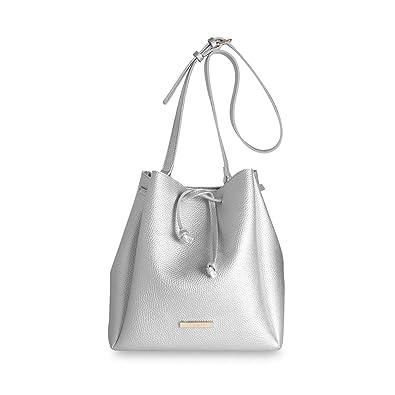 ed5a14c3a5 Amazon.com: Katie Loxton Metallic Silver Chloe Large Women's Faux ...