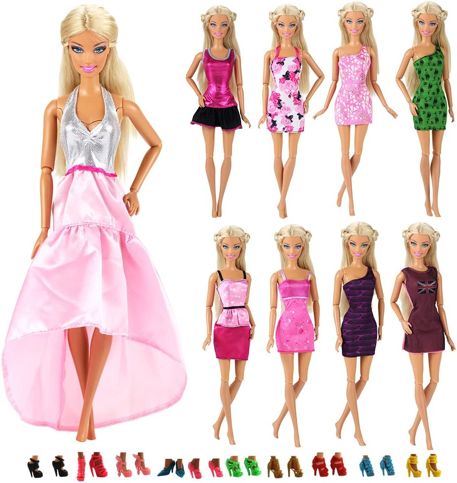 Barwa M/élang/ées Au Hazard Style 10 Ensembles Mode D/écontract/é V/êtements//tenue pour Poup/ée Barbie Cadeau De No/ël