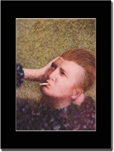 Gasolinerainbows - Queens of The Stone Age - Josh Homme Bowie Pose II - Revista montada Obra de Arte Promocional en una Montura Negra - Matted Mounted Magazine Promotional Artwork on a Black Mount