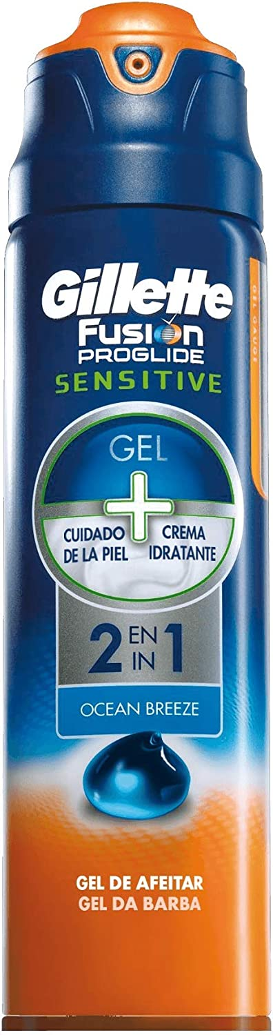 Gillette Fusion ProGlide - Piel Sensible 2-en-1 Cool & Fresh Gel de Afeitado 170 ml