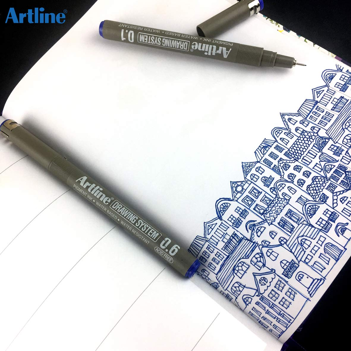 ARTLINE DRAWING PENNA PUNTA 0.1 NERO