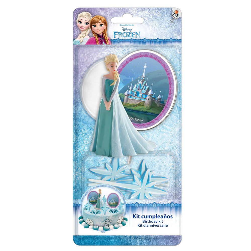 11 x 5 x 23 cm Reine des neiges 303003 KIT Decoration G/ÂTEAU Figurine Plastique Multicolore