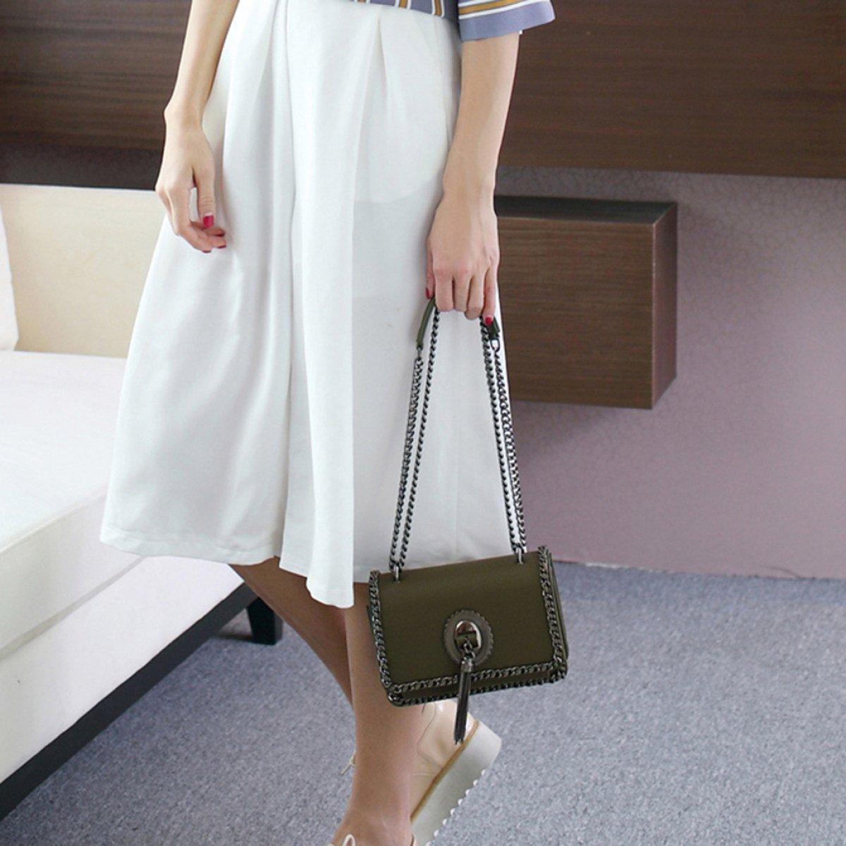 Kvinnor crossbody väskor kedja axelväskor messengerväska mini PU-läder kvinnlig handväska för damer flickor gåvor kontor shopping resor BEIgE