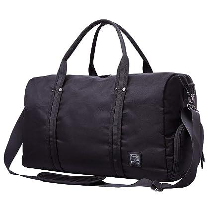 82cc627904 Sac de Voyage Homme Sac de Sport Femme Sport Bag Sac Gym Bagage a Main Sac  Week-end avec Chaussures Sacs, Noir: Amazon.fr: Bagages