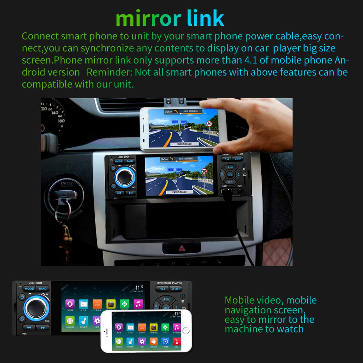 Audio DONGMAO Car Radio 2 Din 7 inch Double Ingot Audio and Video Car MP4 Player Reversing Priority Bluetooth 7060B Car & Vehicle Electronics
