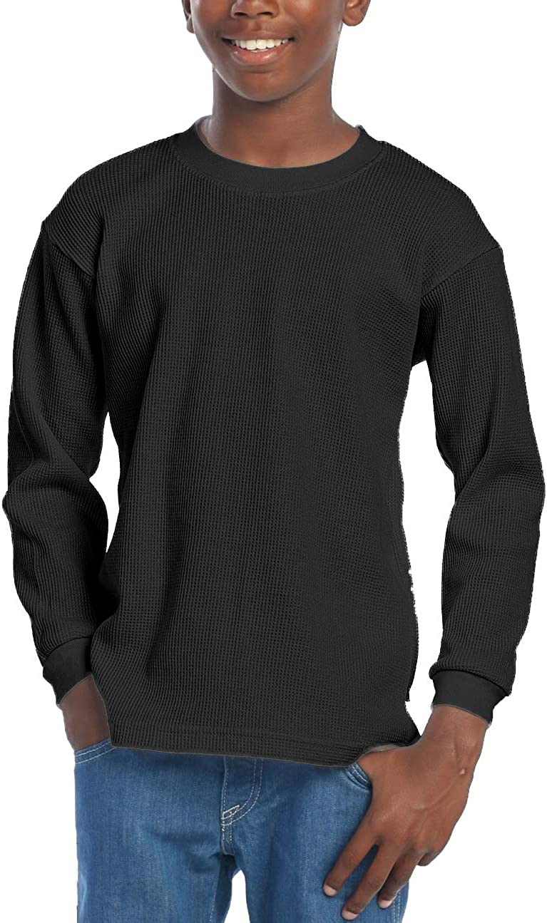 Pro Club Boys Youth Cotton Long Sleeve Crewneck Thermal Top