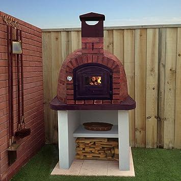 Attractive 1200 Mm Backstein Outdoor Holz Gebrannt Pizza Ofen