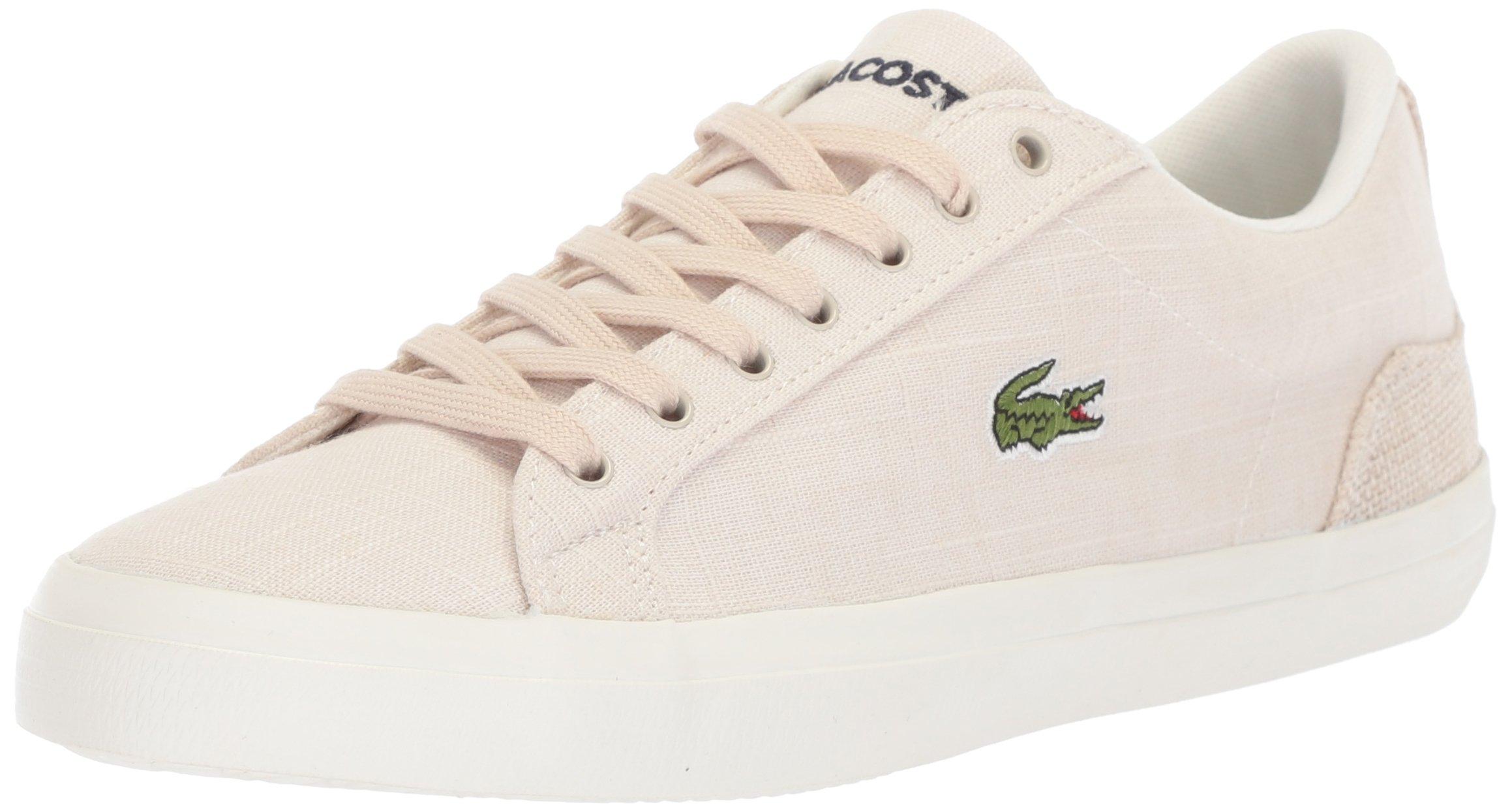 Lacoste Men's Lerond Sneaker, White Canvas, 13 M US