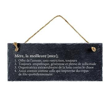 Casa Vivente - Ardoise avec Gravure - Définition Meilleure Maman - Standard  - Plaque de Porte 6ce77c87f72