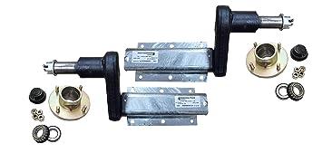 Eje de ruedas para remolque Avonride sin freno, de 10 cm, con capacidad de