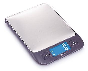 Ogo 7915020 Hera báscula electrónica Bluetooth con análisis nutricional Acero Inoxidable Gris 22 x 15 x 2 cm: Amazon.es
