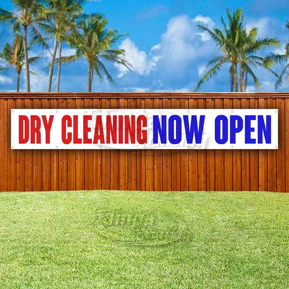 New Flag, Store Many Sizes Available Advertising Dry Cleaning Now Open Extra Large 13 oz Heavy Duty Vinyl Banner Sign with Metal Grommets