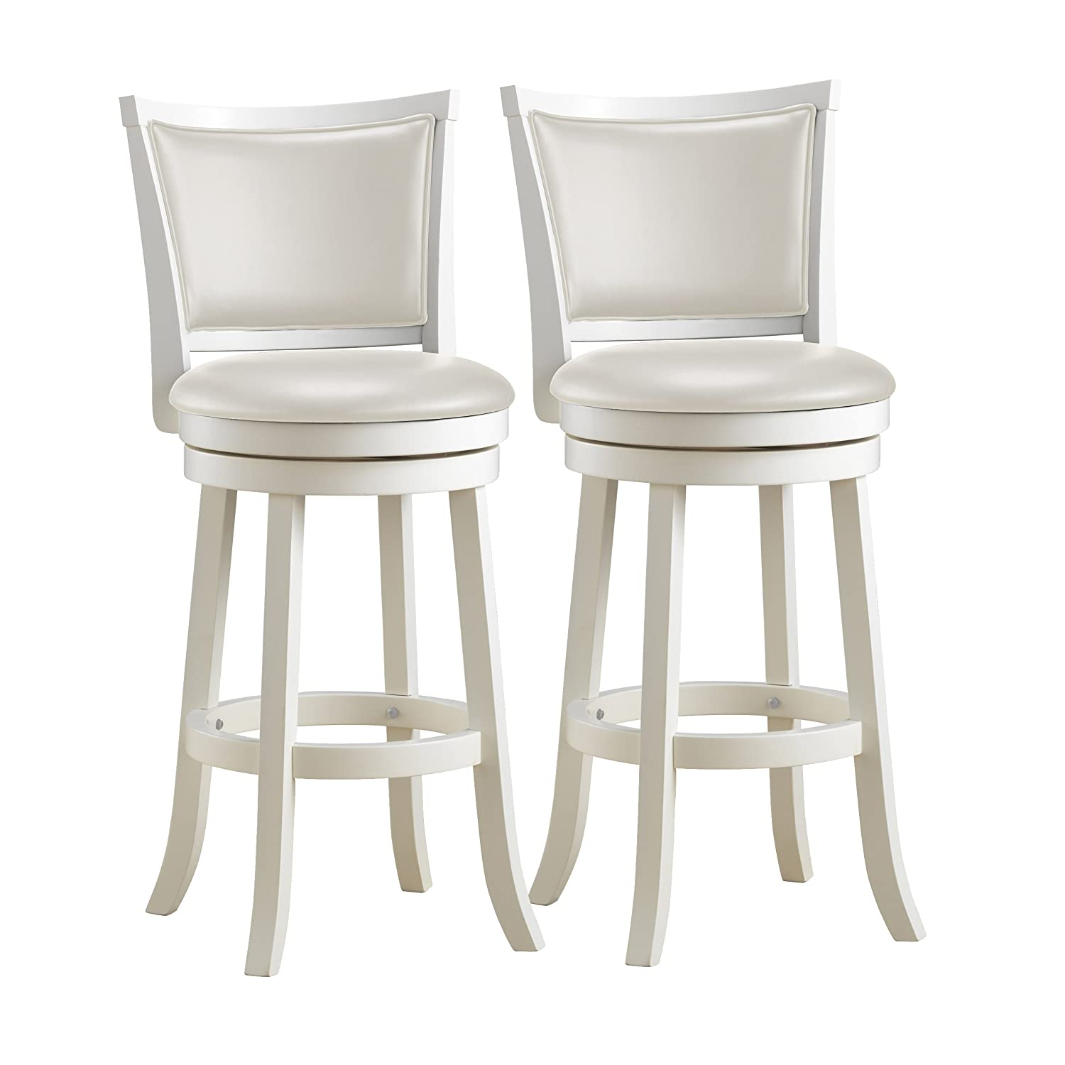 Amazon.com CorLiving DWG-119-B Woodgrove White Wash Wood Swivel Bar Height Barstool with Leatherette Seat 29u0027u0027 Seat Height Set of 2 Kitchen u0026 Dining  sc 1 st  Amazon.com & Amazon.com: CorLiving DWG-119-B Woodgrove White Wash Wood Swivel ... islam-shia.org