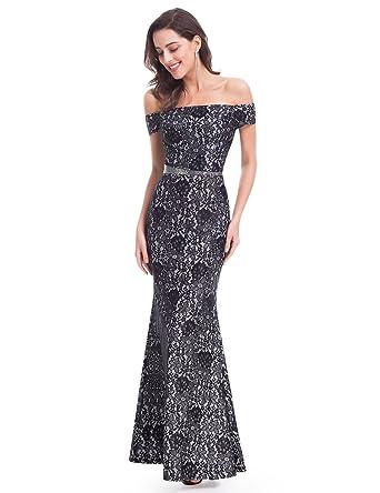 Ever Pretty Womens Cocktail Short Sleeve Dress - Black - UK 11.5