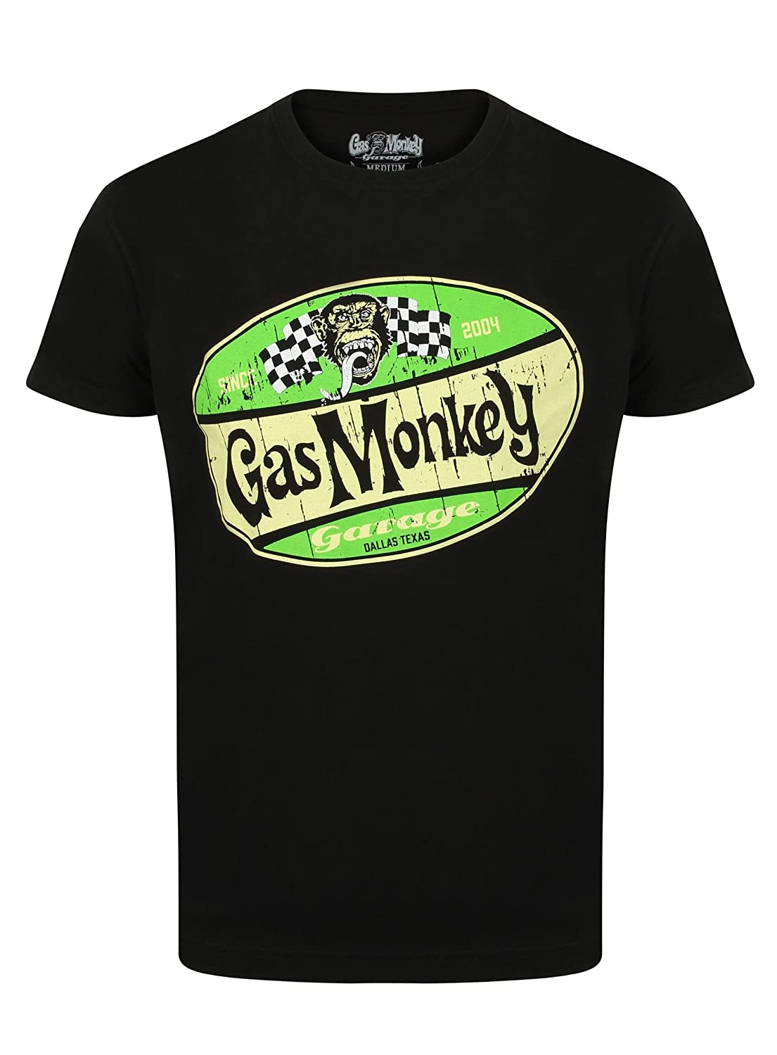 Gas Monkey Garage T-Shirt Shield Red and Green